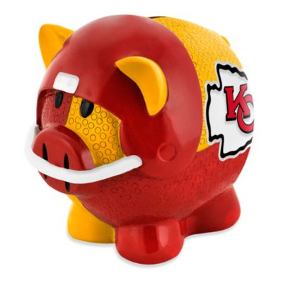 NFL Kansas City Chiefs Resin Piggy Bank