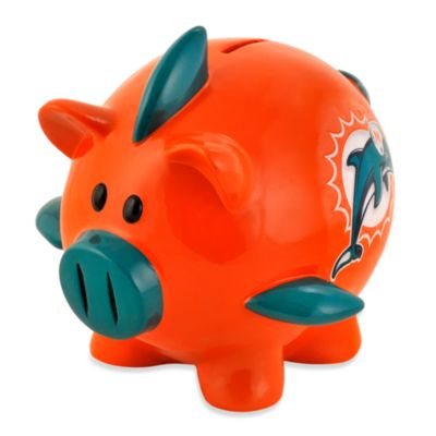 Miami Dolphins Resin Piggy Bank