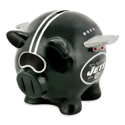 New York Jets Resin Piggy Bank