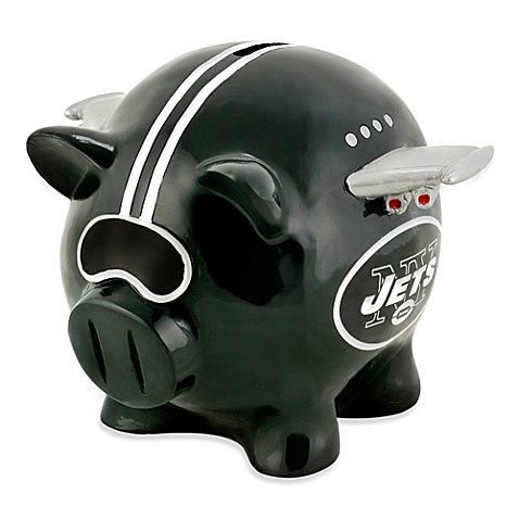 NFL New York Jets Resin Piggy Bank