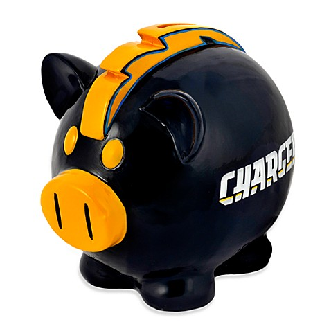 NFL San Diego Chargers Resin Piggy Bank