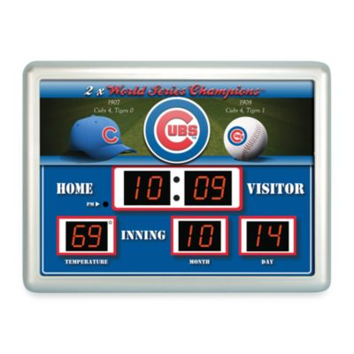 Chicago Cubs Indoor/Outdoor Scoreboard Wall Clock