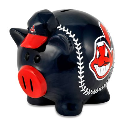 Cleveland Indians Resin Piggy Bank