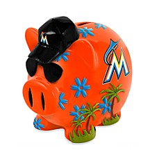 Miami Marlins Resin Piggy Bank