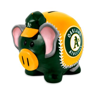 Oakland Athletics Resin Piggy Bank
