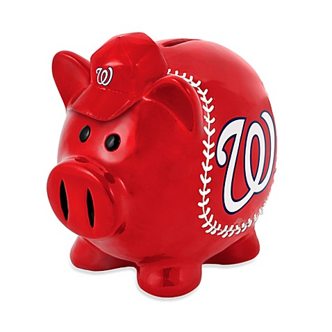 Buy washington nationals resin piggy bank from bed bath beyond - Resin piggy banks ...