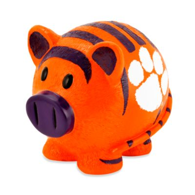 Clemson University Resin Piggy Bank