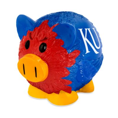University of Kansas Resin Piggy Bank