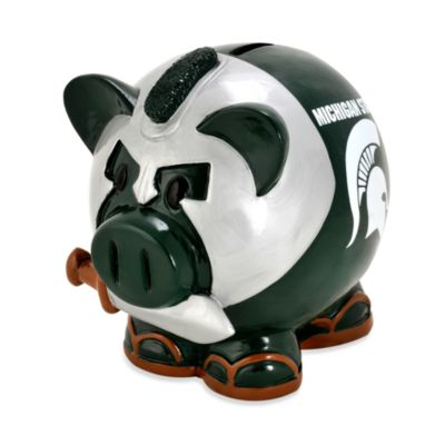 Michigan State Resin Piggy Bank