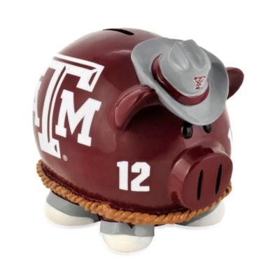 Texas A&M Resin Piggy Bank