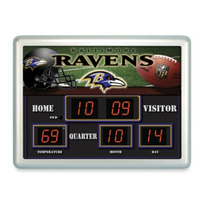 Baltimore RavensIndoor/Outdoor Scoreboard Wall Clock