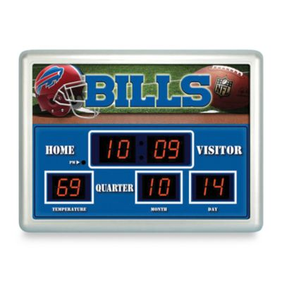 Buffalo Bills Indoor/Outdoor Scoreboard Wall Clock