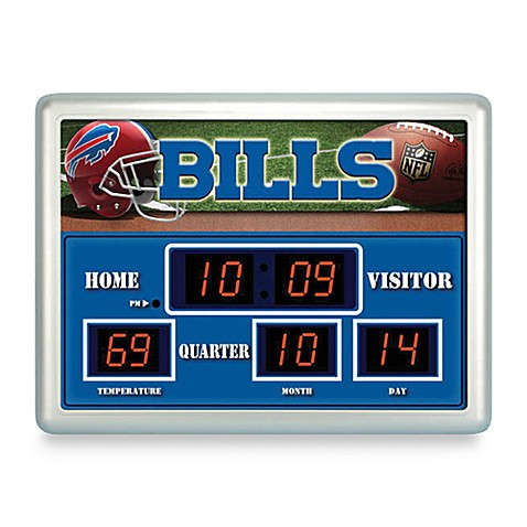 NFL Buffalo Bills Indoor/Outdoor Scoreboard Wall Clock