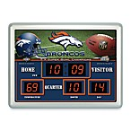 Denver Broncos Indoor/Outdoor Scoreboard Wall Clock