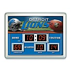 Detroit Lions Indoor/Outdoor Scoreboard Wall Clock