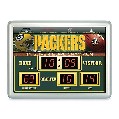 Nfl Green Bay Packers Indoor Outdoor Scoreboard Wall Clock