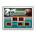 Miami DolphinsIndoor/Outdoor Scoreboard Wall Clock