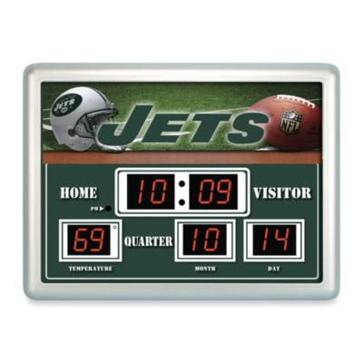 New York JetsIndoor/Outdoor Scoreboard Wall Clock