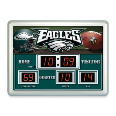 Philadelphia Eagles Indoor/Outdoor Scoreboard Wall Clock