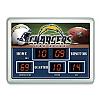 San Diego Chargers Indoor/Outdoor Scoreboard Wall Clock