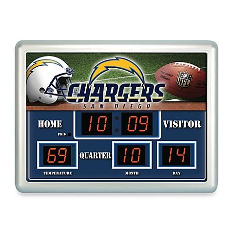Nfl San Diego Chargers Indoor Outdoor Scoreboard Wall