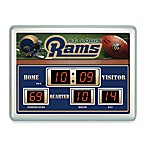 St. Louis Rams Indoor/Outdoor Scoreboard Wall Clock