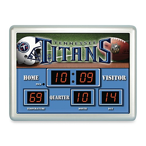NFL Tennessee Titans Indoor/Outdoor Scoreboard Wall Clock