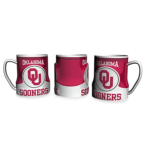 University of Oklahoma 18 oz. Sculpted Team Coffee Mug