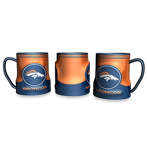Denver Broncos 18 oz. Sculpted Team Coffee Mug