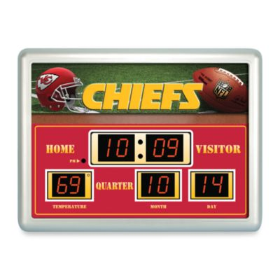 NFL Kansas City Chiefs Indoor/Outdoor Scoreboard Wall Clock