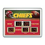Kansas City ChiefsIndoor/Outdoor Scoreboard Wall Clock