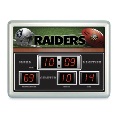 NFL Oakland Raiders Indoor/Outdoor Scoreboard Wall Clock