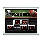 Oakland RaidersIndoor/Outdoor Scoreboard Wall Clock