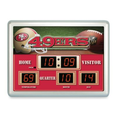 San Francisco 49ers Indoor/Outdoor Scoreboard Wall Clock