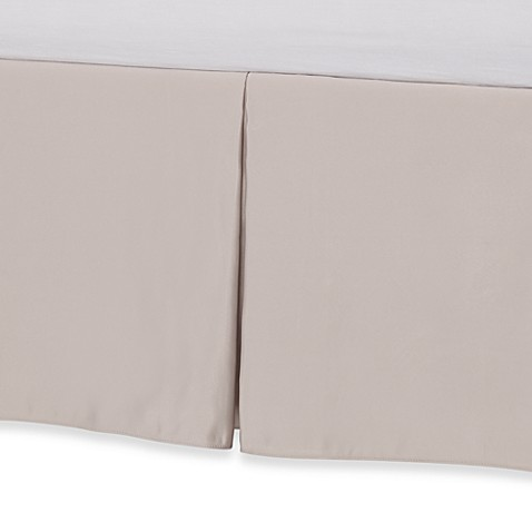 Barbara Barry Glamour Bed Skirt Collection - Bisque