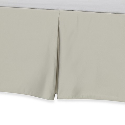 Barbara Barry Glamour Bed Skirt - Green Tea