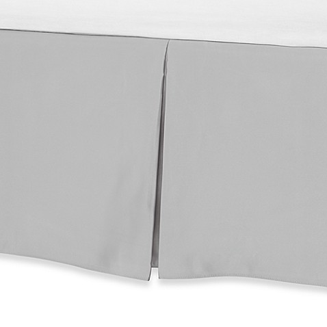 Barbara Barry Glamour Bed Skirt - Sterling