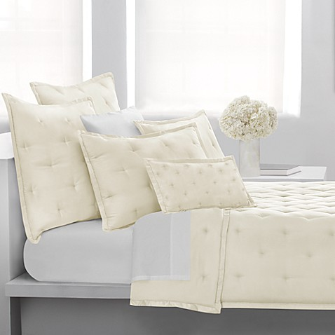 DKNY City Silk European Pillow Sham in Ivory