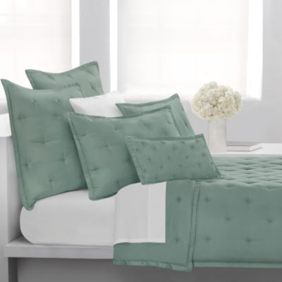 DKNY City Silk European Pillow Sham in Marine