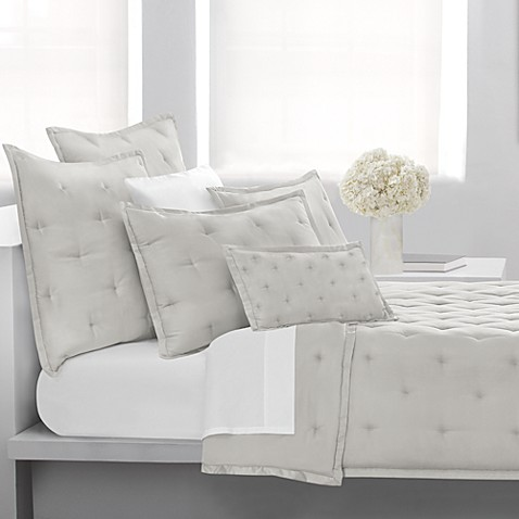 DKNY City Silk Standard Pillow Sham in Silver