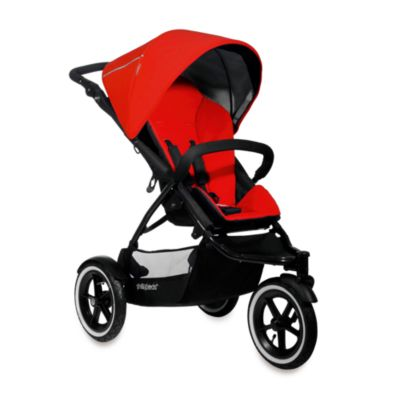 phil&teds® Navigator™ Go Everywhere in Line™ Stroller in Cherry