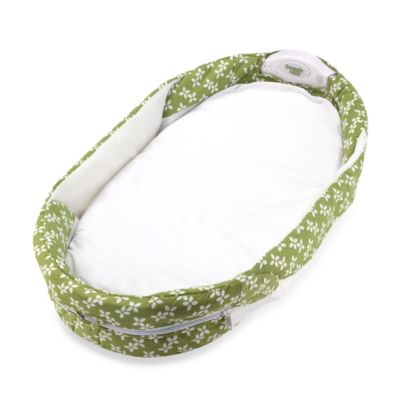 Baby Delight® Snuggle Nest® Surround Portable Infant Sleeper in Green/White