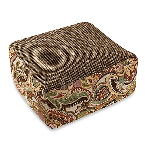 Josette Green Tweed Floor Cushion