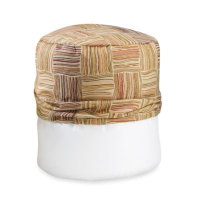 Flourish Multi-Colored Footstool Cover