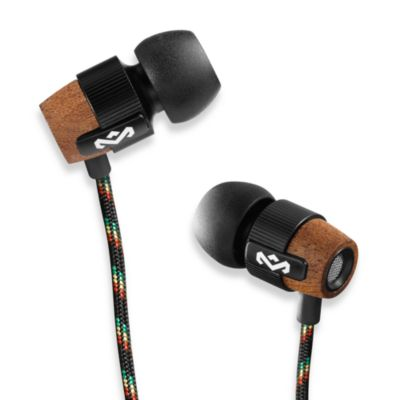 House of Marley Redemption Song™ In-Ear Headphones in Midnight (3-Button Remote w/Mic)