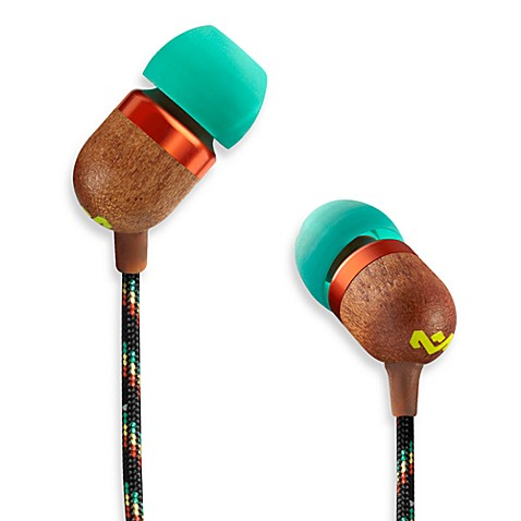 House of Marley Smile Jamaica™ in-Ear Headphones in Rasta (1-Button Remote w/Mic)