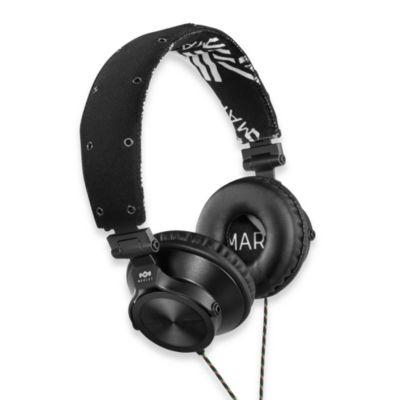 House of Marley Revolution™ On-Ear Headphones (3-Button Remote w/Mic) in Midnight
