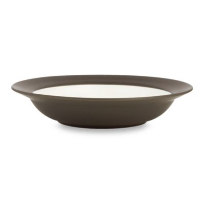 Noritake® Colorwave Chocolate Rim 8 1/2-Inch Rim Soup/Pasta Bowl