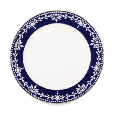 White Indigo Bread and Butter Plate