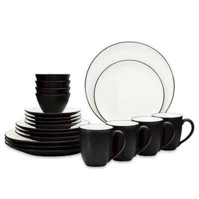 Noritake® Colorwave Graphite Coupe 20-Piece Dinnerware Set